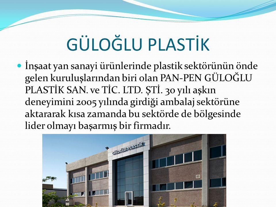 GÜLOĞLU PLASTİK İnşaat yan sanayi ürünlerinde plastik sektörünün önde gelen kuruluşlarından biri olan PAN-PEN GÜLOĞLU PLASTİK SAN. ve TİC. LTD. ŞTİ. 3