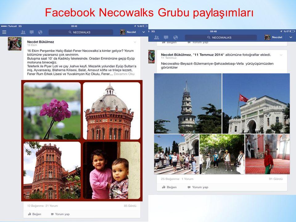 Facebook Necowalks Grubu paylaşımları