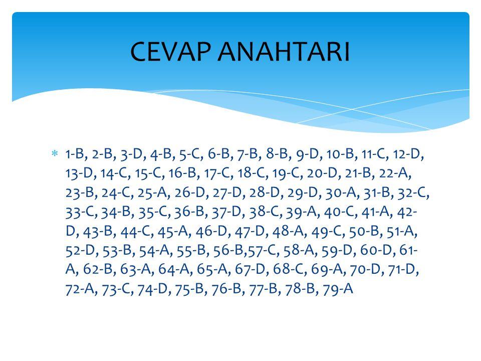  1-B, 2-B, 3-D, 4-B, 5-C, 6-B, 7-B, 8-B, 9-D, 10-B, 11-C, 12-D, 13-D, 14-C, 15-C, 16-B, 17-C, 18-C, 19-C, 20-D, 21-B, 22-A, 23-B, 24-C, 25-A, 26-D, 2