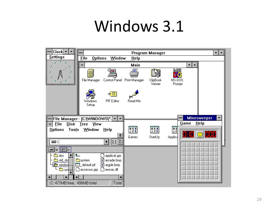 Windows 3.1 29