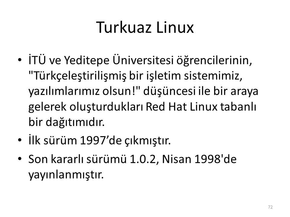 Turkuaz Linux İTÜ ve Yeditepe Üniversitesi öğrencilerinin,