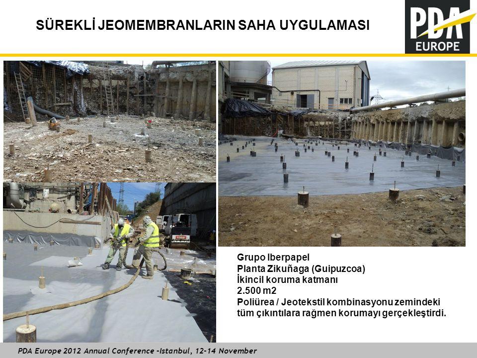 PDA Europe 2012 Annual Conference –Istanbul, 12-14 November SÜREKLİ JEOMEMBRANLARIN SAHA UYGULAMASI Grupo Iberpapel Planta Zikuñaga (Guipuzcoa) İkinci
