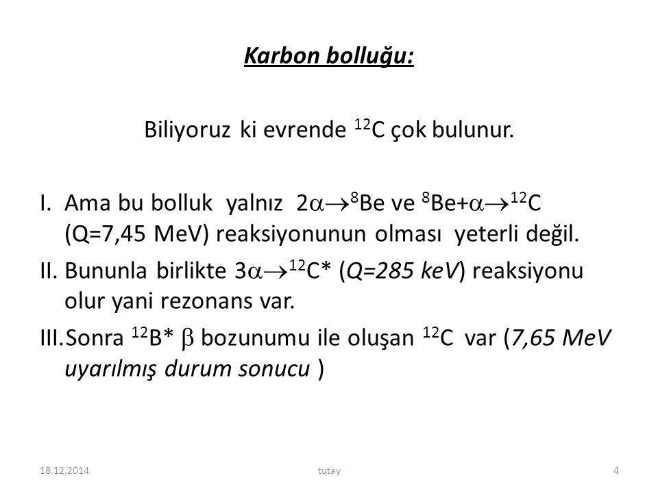 18.12.2014tutay5 Sıcaklığın fonksiyonu olarak çeşitli alfa reaksiyonlarının ortalama ömrü.