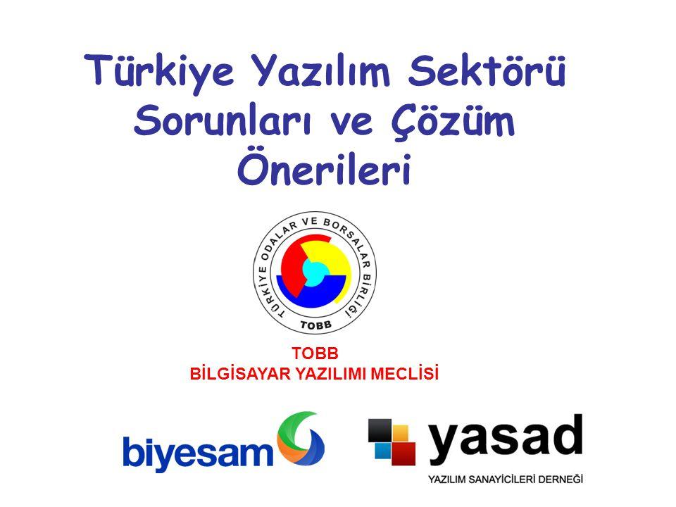 Türkiye Yazılım Sektörü Sorunları ve Çözüm Önerileri TOBB BİLGİSAYAR YAZILIMI MECLİSİ