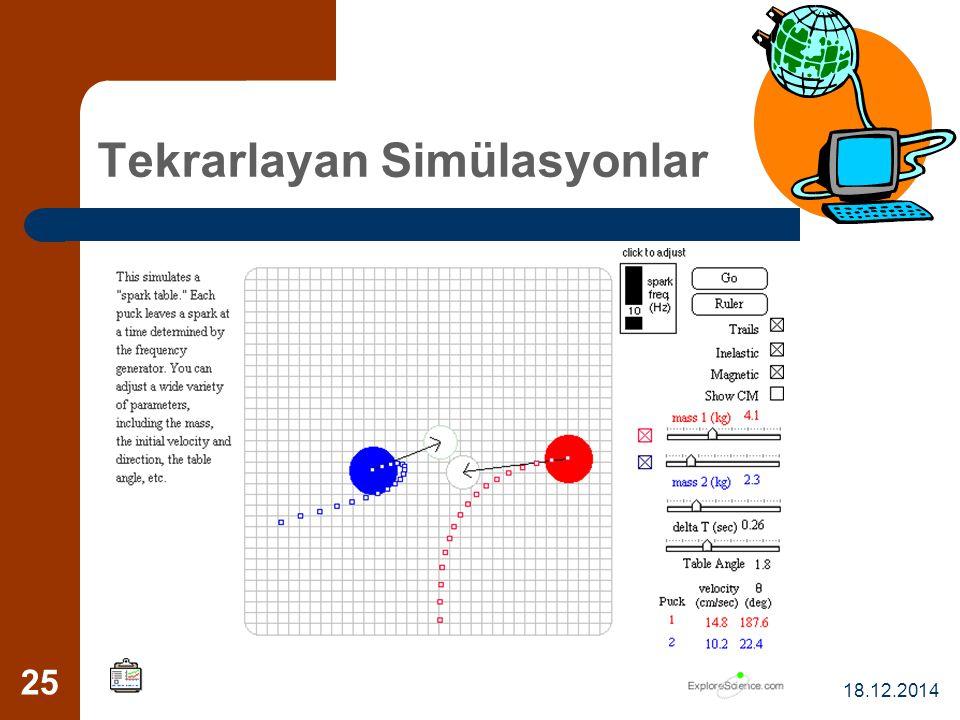 18.12.2014 25 Tekrarlayan Simülasyonlar