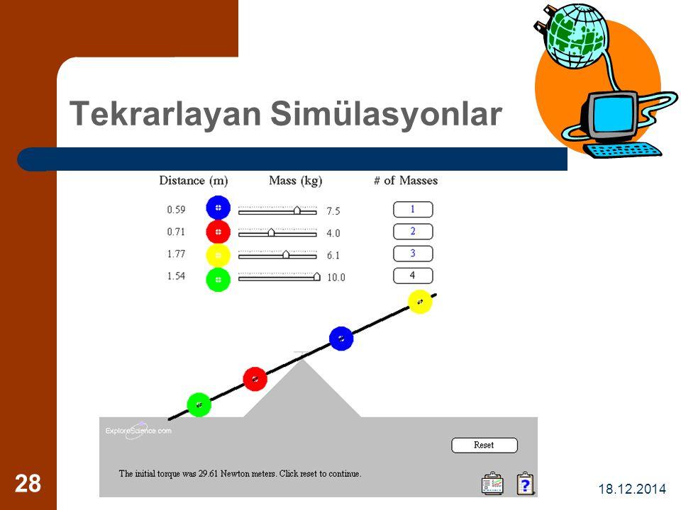 18.12.2014 28 Tekrarlayan Simülasyonlar