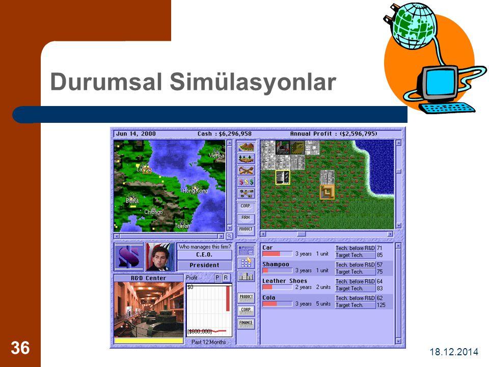 18.12.2014 36 Durumsal Simülasyonlar