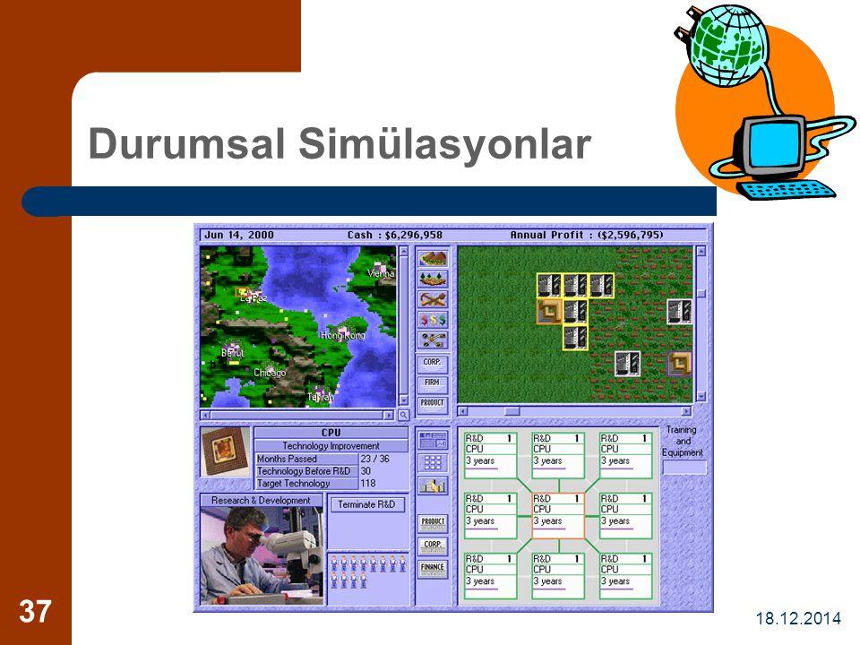 18.12.2014 37 Durumsal Simülasyonlar