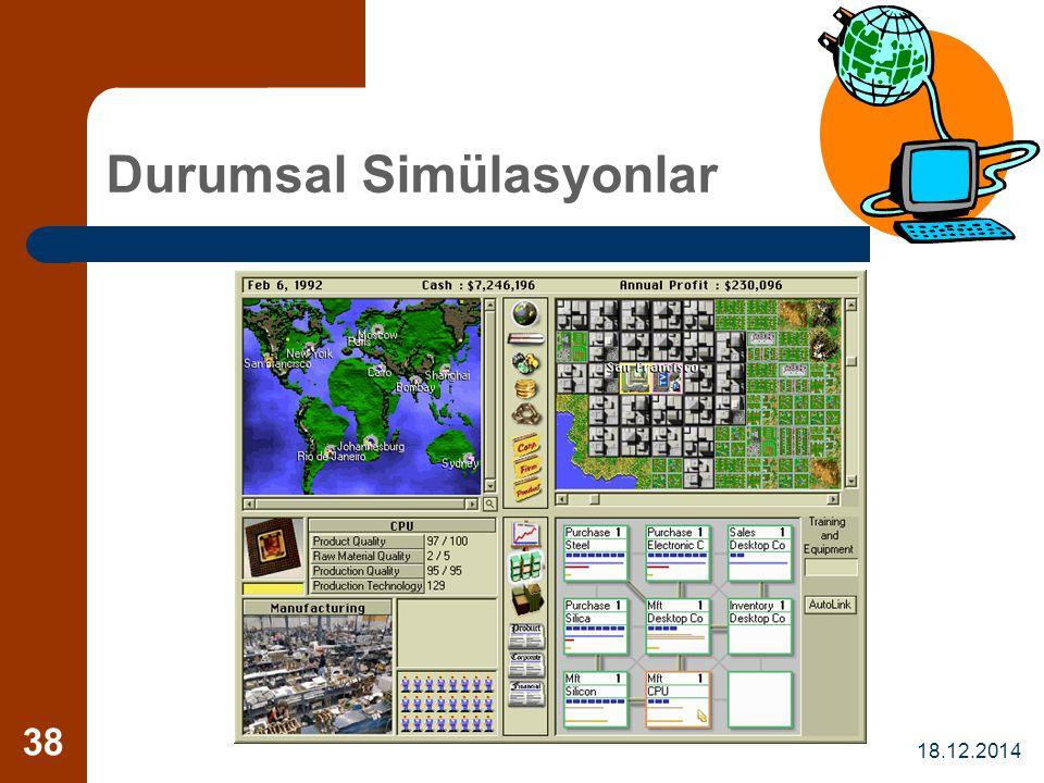 18.12.2014 38 Durumsal Simülasyonlar