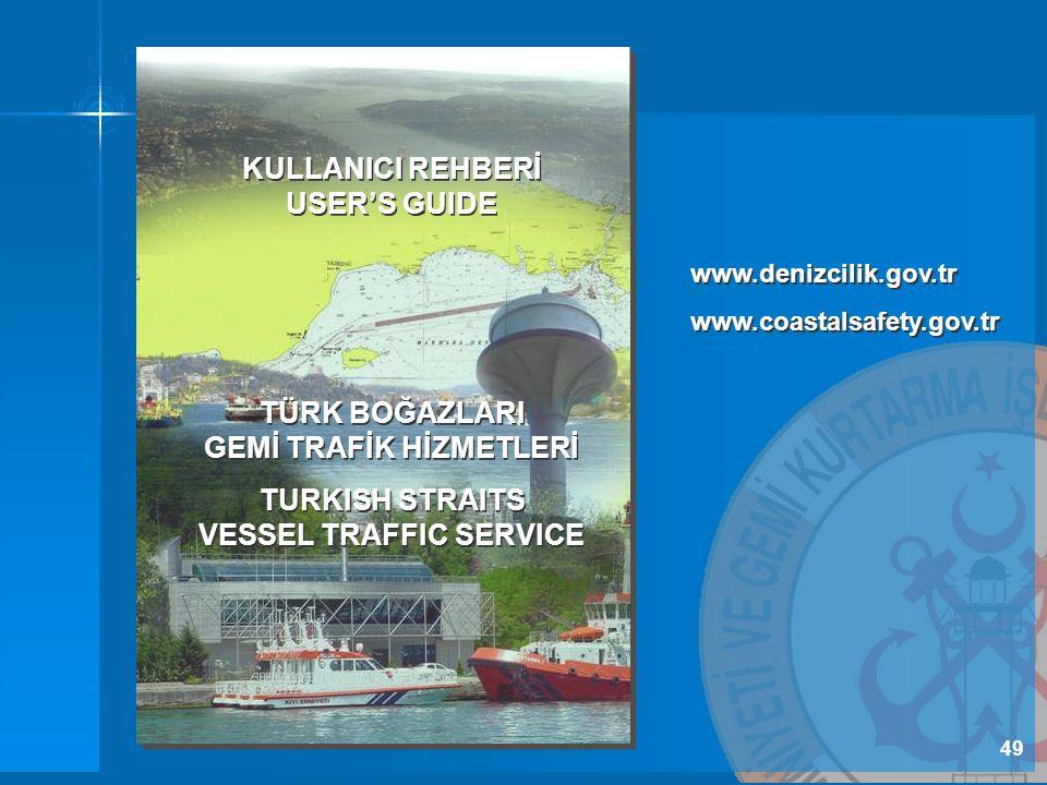 www.denizcilik.gov.tr www.coastalsafety.gov.tr www.denizcilik.gov.tr www.coastalsafety.gov.tr KULLANICI REHBERİ USER'S GUIDE TÜRK BOĞAZLARI GEMİ TRAFİ