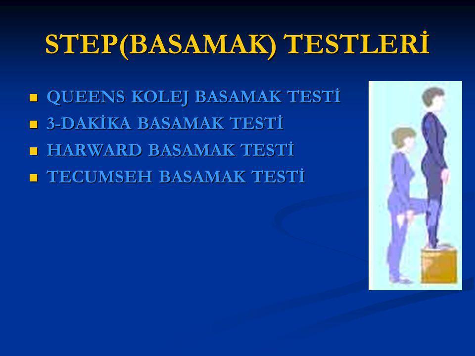 STEP(BASAMAK) TESTLERİ QUEENS KOLEJ BASAMAK TESTİ QUEENS KOLEJ BASAMAK TESTİ 3-DAKİKA BASAMAK TESTİ 3-DAKİKA BASAMAK TESTİ HARWARD BASAMAK TESTİ HARWA