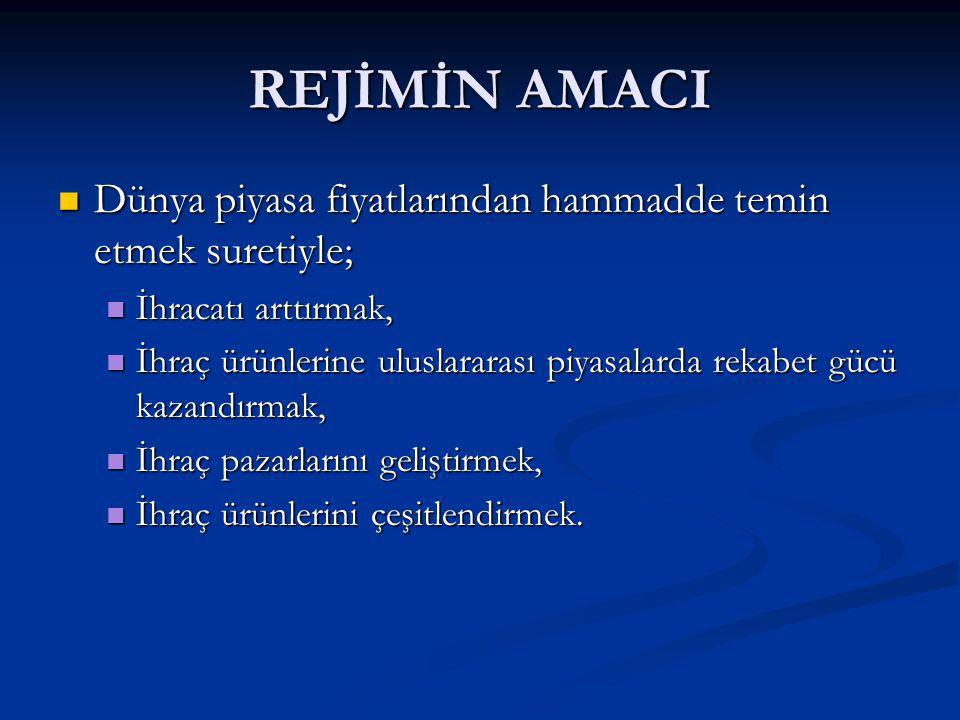 TÜRKİYE GÜMRÜK BÖLGESİ DIŞINDA İŞLEME FAALİYETİ Gerekli iznin alınması şartıyla, işlem görmüş ürünlerin veya değişmemiş eşyanın tamamı veya bir kısmı, hariçte işleme rejimi hükümleri çerçevesinde daha ileri düzeyde işlenmek üzere veya ayniyetinin tespit edilebilir olması şartıyla sergilenmek ya da tamir amacıyla Türkiye Gümrük Bölgesi dışına geçici olarak ihraç edilebilir.