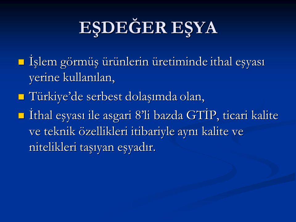 DAHİLDE İŞLEME İZİN BELGESİ (DİİB) Dış Ticaret Müsteşarlığı'nca (DTM) düzenlenir.