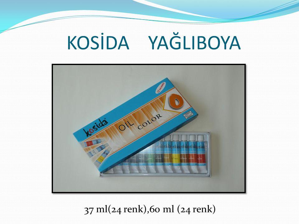 KOSİDA YAĞLIBOYA 37 ml(24 renk),60 ml (24 renk)