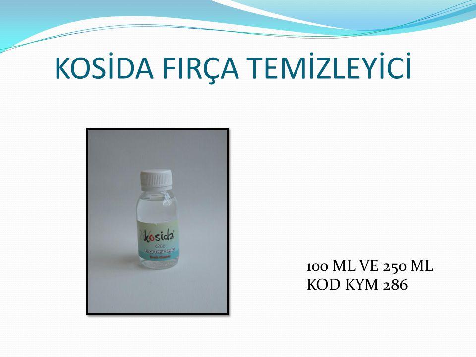 KOSİDA FIRÇA TEMİZLEYİCİ 100 ML VE 250 ML KOD KYM 286