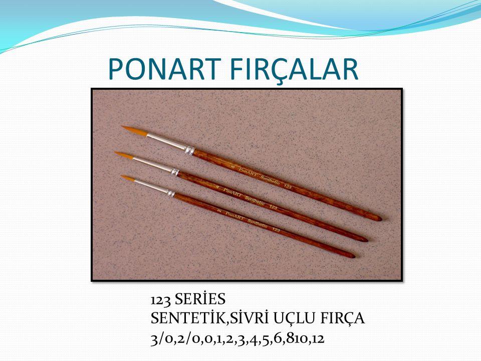 PONART FIRÇALAR 123 SERİES SENTETİK,SİVRİ UÇLU FIRÇA 3/0,2/0,0,1,2,3,4,5,6,810,12
