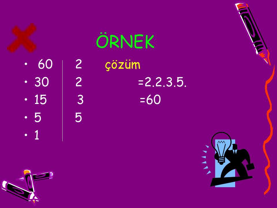 EKOK(En Küçük Ortak Kat) İki veya daha fazla sayma sayısının ortak katları arasında en küçük olanına en küçük ortak kat denir.