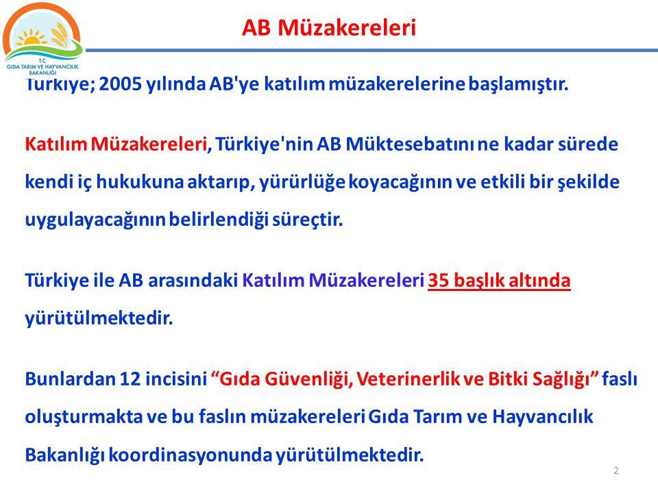 AB Müzakereleri Türkiye; 2005 yılında AB ye katılım müzakerelerine başlamıştır.