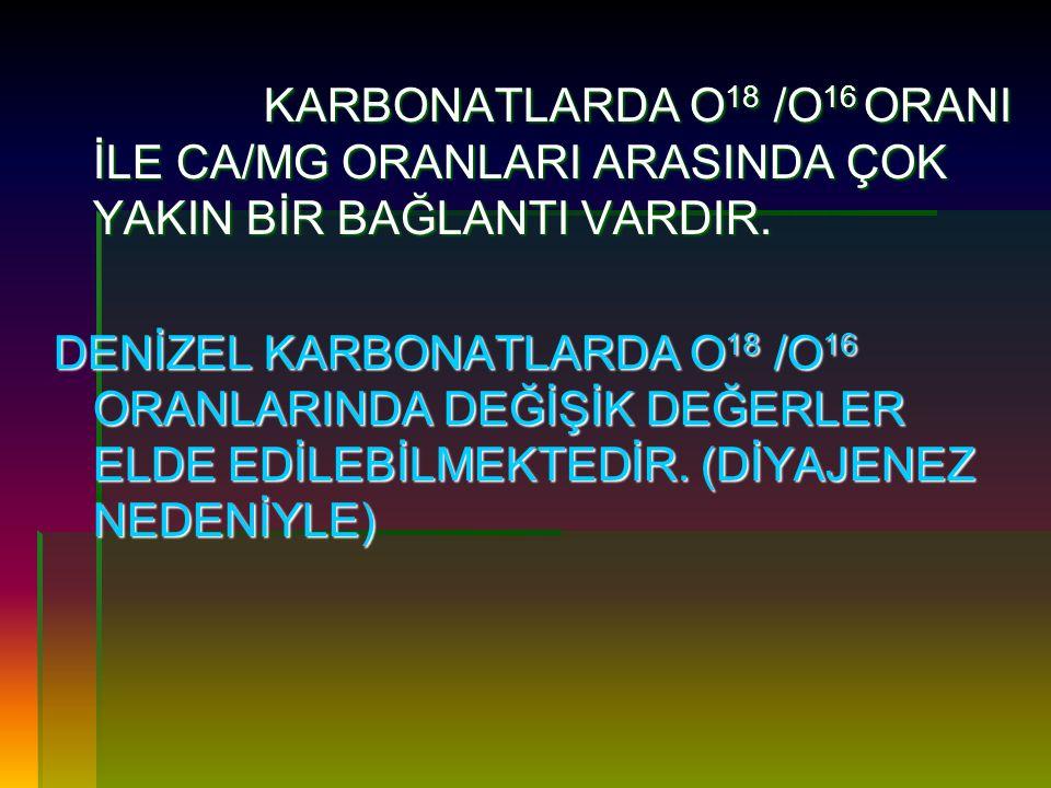 C 12 /C 13 ORANI İLE BÖLGE TAYİNİ NASIL YAPILIR .