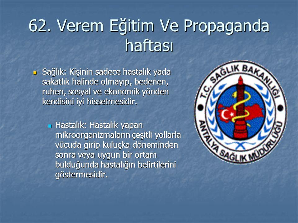 62. Verem Eğitim Ve Propaganda haftası
