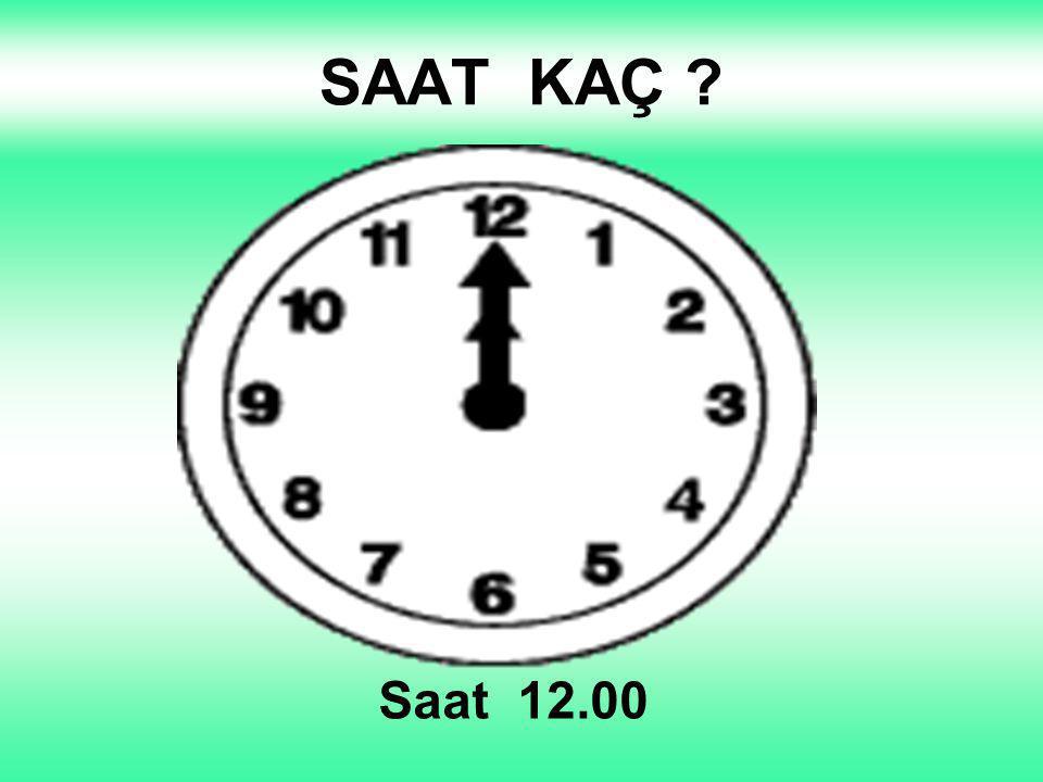 SAAT KAÇ Saat 8.00 1 2 3 4 5 12 11 10 6 9 8 7