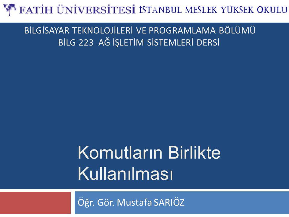 BİLG 223 www.bilisimogretmeni.com Standart Hata Yönlendirme  Komutun yanında n sayısı 2 olarak verildiği takdirde standart hata için yönlendirme yapılır.