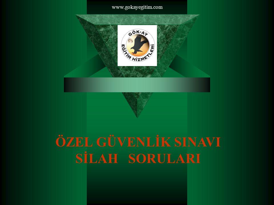 www.gokayegitim.com ÖZEL GÜVENLİK SINAVI SİLAH SORULARI