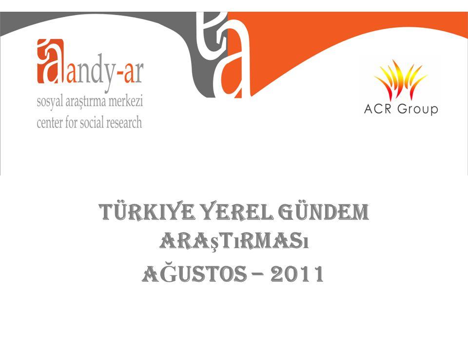 Türkiye Yerel Gündem Ara ş t ı rmas ı A Ğ USTOS – 2011