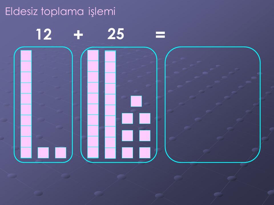 Eldesiz toplama işlemi 12 25 +=