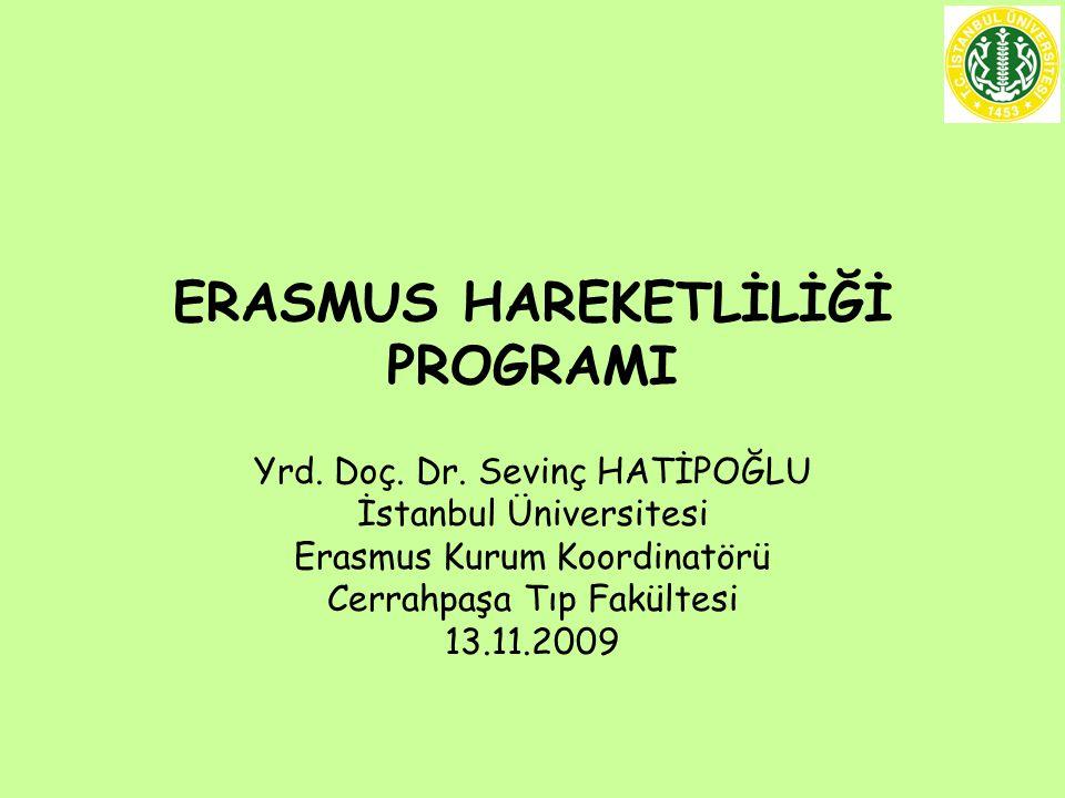 ERASMUS HAREKETLİLİĞİ PROGRAMI Yrd. Doç. Dr.