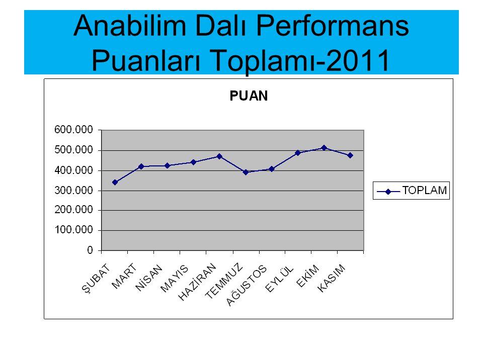 Anabilim Dalı Performans Puanları Toplamı-2011