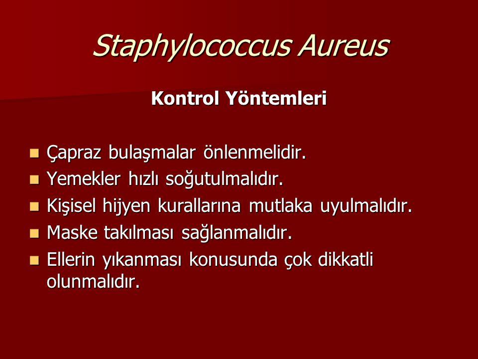 Staphylococcus Aureus Kaynakları – Burun, ağız, deri, eller, yaralar Kaynakları – Burun, ağız, deri, eller, yaralar Bulaşma Yolları – Maske takmadan ç