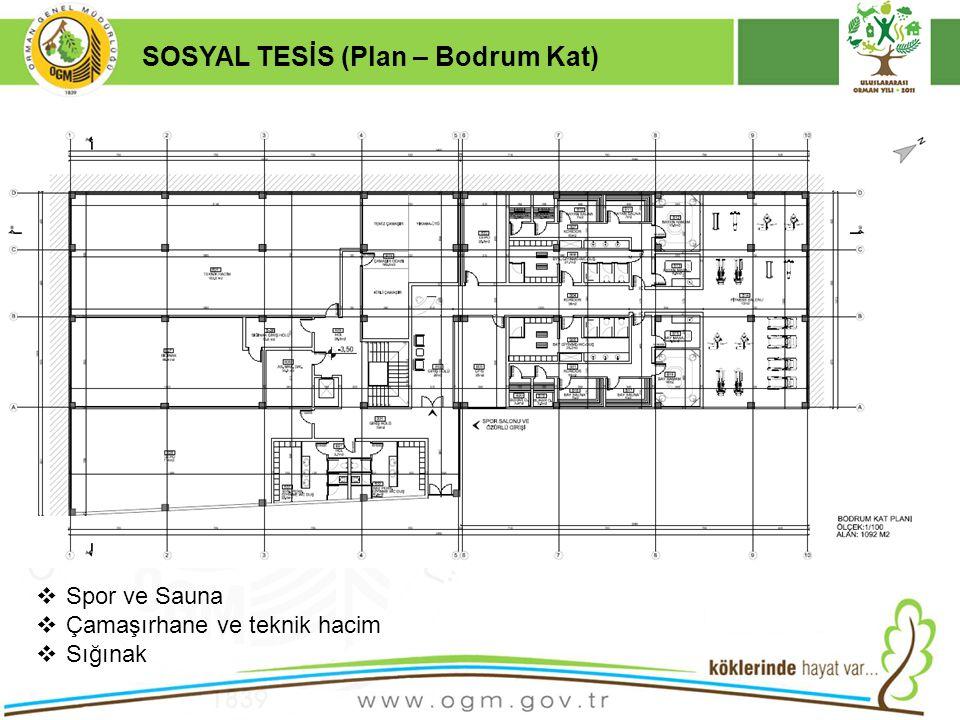 16/12/2010 Kurumsal Kimlik 15 SOSYAL TESİS (Plan – Bodrum Kat)  Spor ve Sauna  Çamaşırhane ve teknik hacim  Sığınak