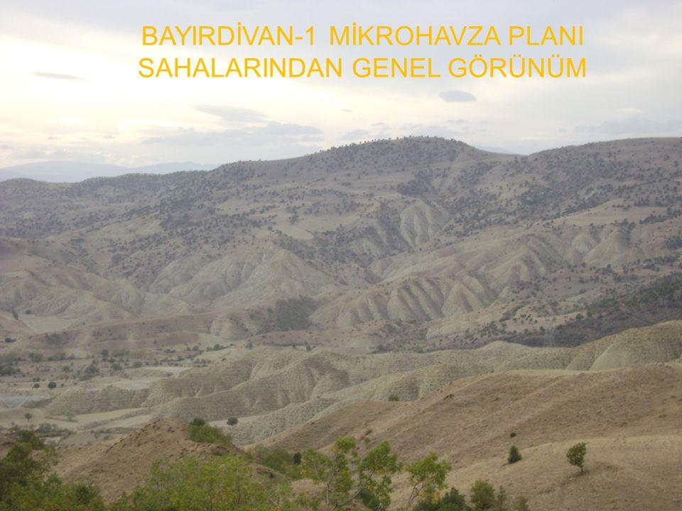 BAYIRDİVAN-1 MİKROHAVZA PLANI SAHALARINDAN GENEL GÖRÜNÜM