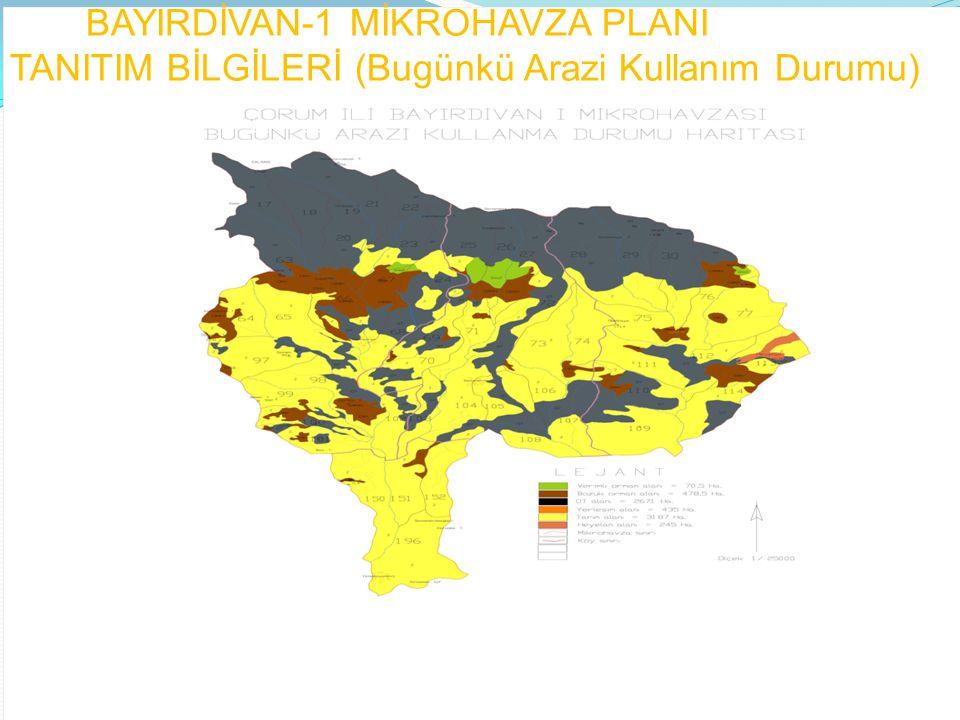 BAYIRDİVAN-1 MİKROHAVZA PLANI KAPSAMINDA KURUMUMUZ TARAFINDAN GERÇEKLEŞTİRİLEN FAALİYETLER Bayırdivan-1 Mikrohavza Planında yer alan faaliyetler; 1730 hektar Toprak Muhafaza Ağaçlandırması, 438 hektar Çıplak, Zayıf ve Aşınmış Top.