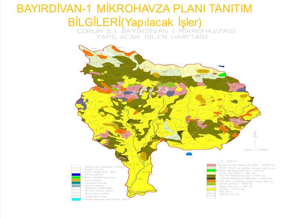 BAYINDİVAR-1 MİKROHAVZA PLANI TANITIM BİLGİLERİ