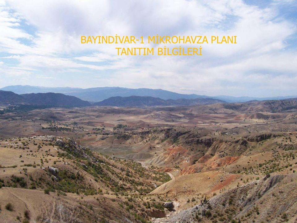 BAYIRDİVAN-1 MİKROHAVZA PLANI TANITIM BİLGİLERİ Anadolu Su Havzaları Rehabilitasyon Projesi Bayırdivan Mikrohavzası Planı Genel Amacı; 1.