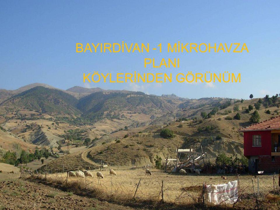 BAYIRDİVAN -1 MİKROHAVZA PLANI KÖYLERİNDEN GÖRÜNÜM