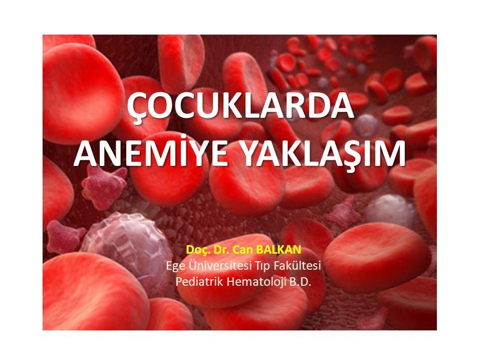 Anemi Tanımı Kan hemoglobin düzeyinde veya eritrosit kitlesinde azalma Yaşa ve cinsiyete göre olması gereken normal değerlerin altındaki hemoglobin değerleri