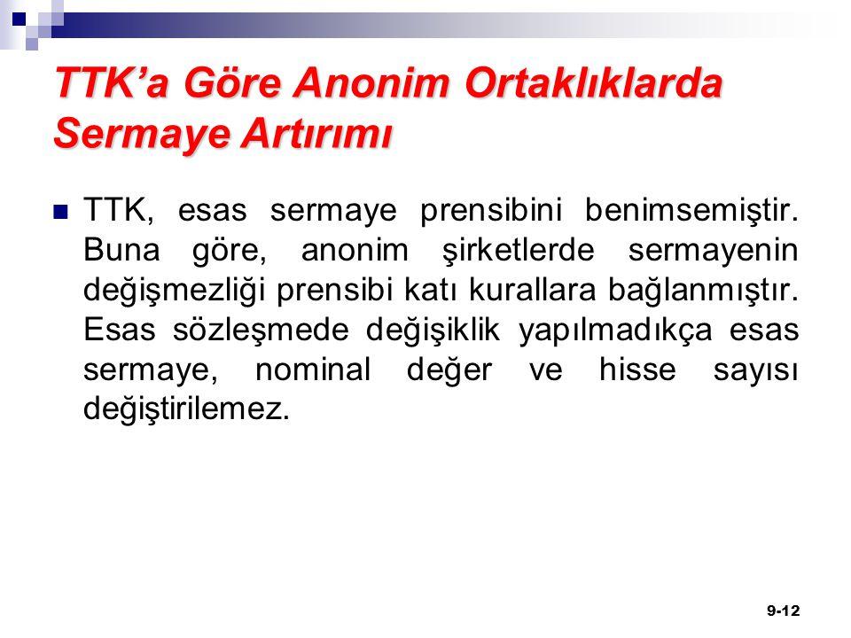 TTK'a Göre Anonim Ortaklıklarda Sermaye Artırımı TTK, esas sermaye prensibini benimsemiştir.