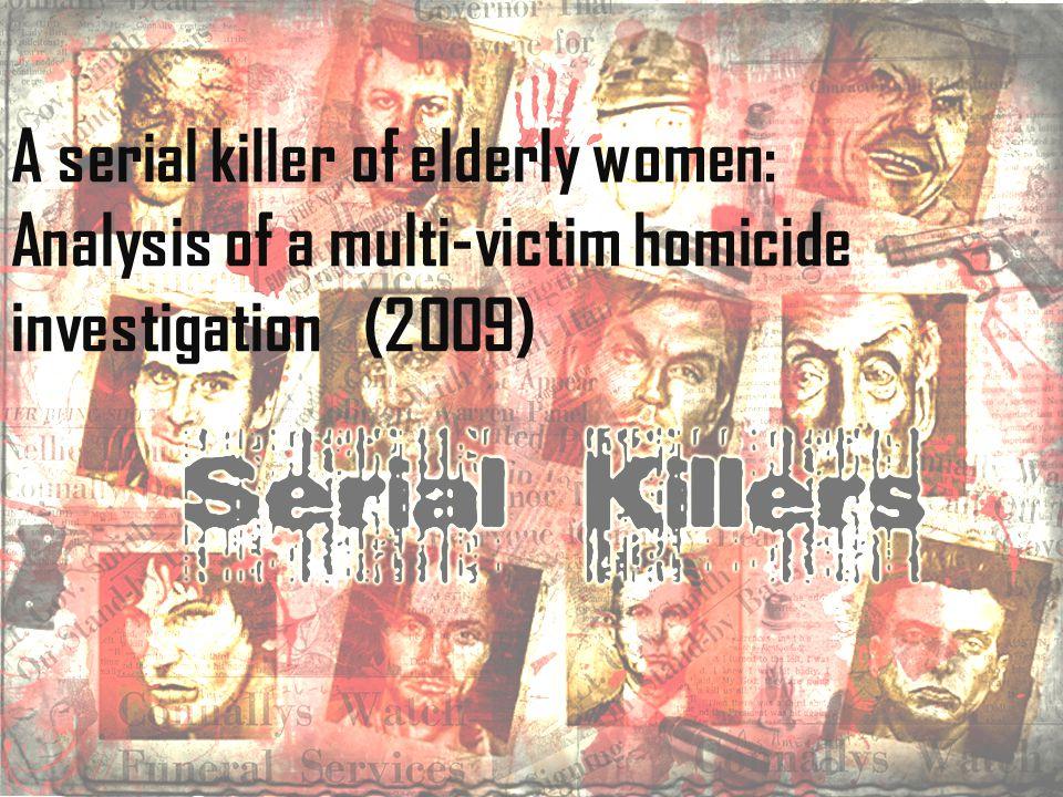 * 1995- 1997 yılları arasında İ talya'nın güneyinde 15 ya ş lı kadın cinayeti,70 ya ş üstü *3 cinayet hariç ki bunlar bo ğ ularak öldürülmü ş, di ğ er 12 cinayette ise kurbanlar boynundan defalarca bıçaklanmı ş, ayrıca bazıları cinsel saldırıya da maruz kalmı ş *Tüm kurbanlar apartmanların giri ş katında oturuyor ve cesetleri oturdukları katlarda bulunuyor,apartmana zorla giri ş bulgusu yok *Cinayetlerin ço ğ unda katil, kurbanın evindeki mücevher ve parayı da çalmı ş *Disiplinli bir ekip çalı ş ması sonucu katilin profili çıkarılabiliyor MAKALE İ ÇER İĞİ NE GENEL BAKI Ş