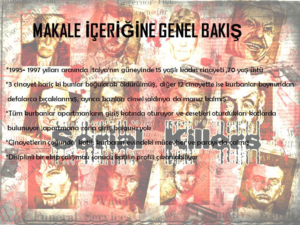 YAKALANI Ş *16 eylül 1997'de son cinayetini i ş ledikten sonra trene binerken yakalanan Sebai, son cinayetindeki kurbanının kom ş usu tarafından ş ikayet edildi.
