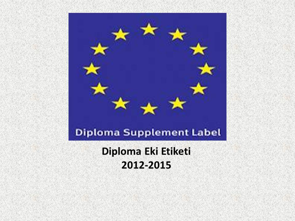 Diploma Eki Etiketi 2012-2015