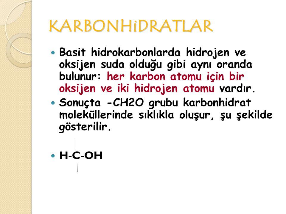 KARBONHiDRATLAR Çoğu canlılardaki temel enerji depo maddeleridir ve genellikle şeker olarak adlandırılan küçük moleküllerden oluşmuştur.