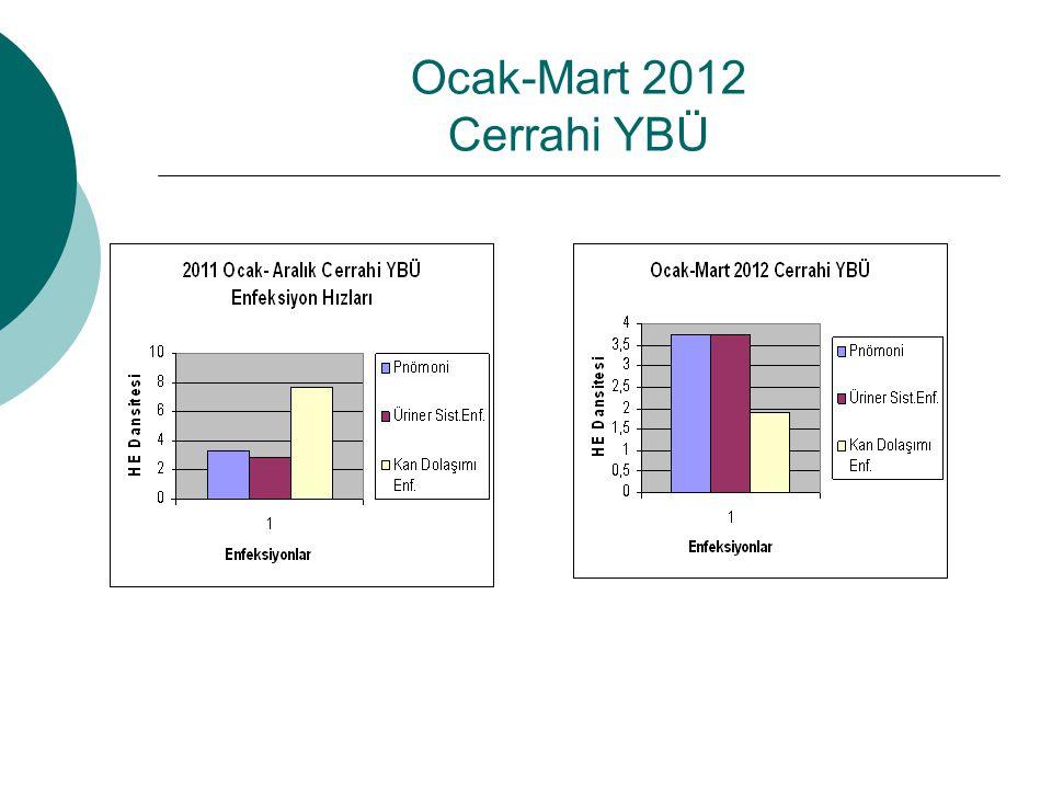 Ocak-Mart 2012 Cerrahi YBÜ