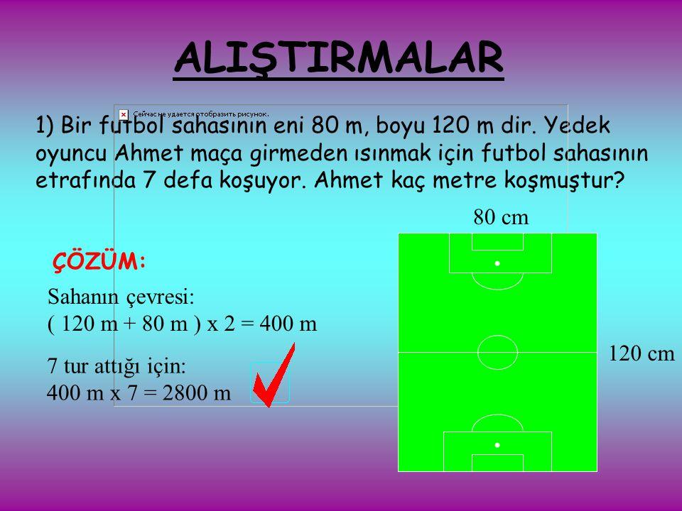 6 cm x 4 cm= 24 cm² AB CD 6 cm DİKDÖRTGENİN ALANI KISA KENARI İLE UZUN KENARININ ÇARPILMASIYLA HESAPLANIR.