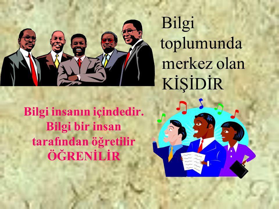 Geleceğin toplumu hem bilgi toplumu hem de kuruluşlar toplumu olacaktır.