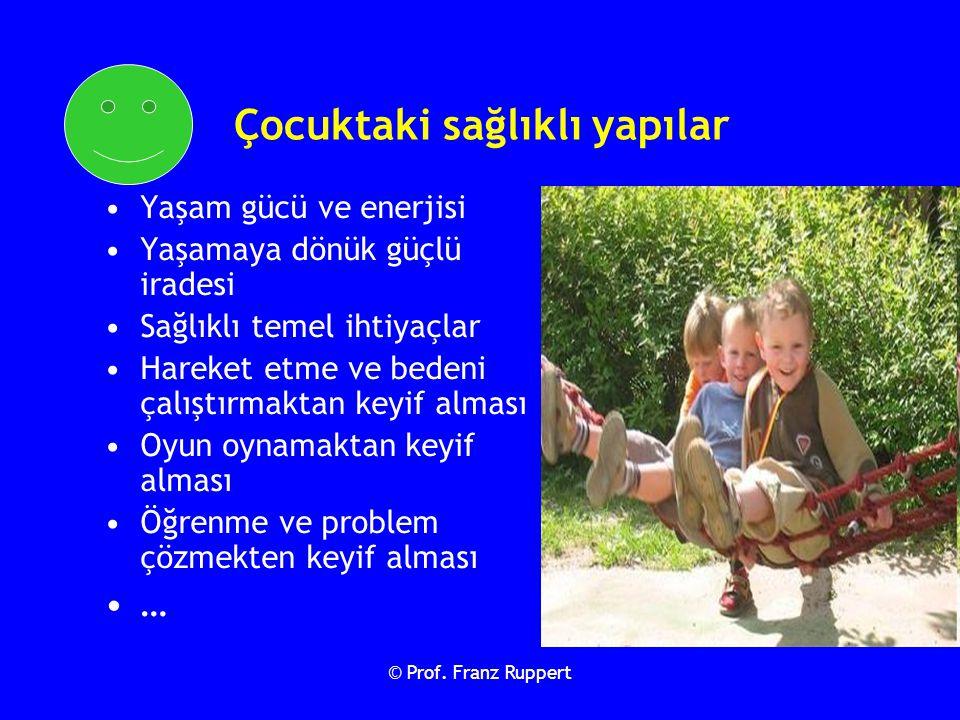 © Prof. Franz Ruppert Çocuktaki sağlıklı yapılar Yaşam gücü ve enerjisi Yaşamaya dönük güçlü iradesi Sağlıklı temel ihtiyaçlar Hareket etme ve bedeni