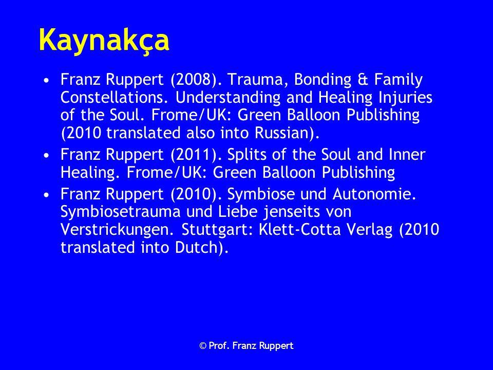 Kaynakça Franz Ruppert (2008). Trauma, Bonding & Family Constellations. Understanding and Healing Injuries of the Soul. Frome/UK: Green Balloon Publis