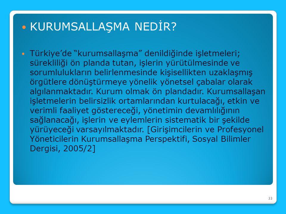 """KURUMSALLAŞMA NEDİR? Türkiye'de """"kurumsallaşma"""" denildiğinde işletmeleri; sürekliliği ön planda tutan, işlerin yürütülmesinde ve sorumlulukların belir"""